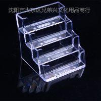 四格名片盒 透明 名片座 4格名片盒 名片架 台式名片盒 名片座