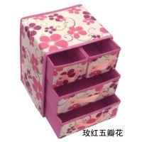 热销无纺布覆膜防水防潮3层4抽折叠收纳盒  整理箱 1个起批