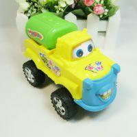 F044大号卡通拉线油罐车 玩具汽车模型 批发儿童地摊玩具货源
