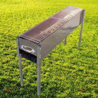 1米加厚加宽不锈钢烧烤炉子家用户外便携木炭烧烤架箱烤肉架批发