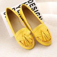 供应星星的你同款平底流苏休闲女鞋 厂家直销品牌鞋 2014新款单鞋