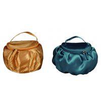 东莞工厂专业PU化妆包定制 简约纯色便当式手提化妆收纳袋出口