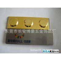 专业制作不锈钢腐蚀标牌  铁质冲压工号牌  锌合金电镀箱包配件