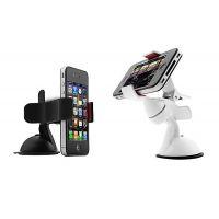 车载夹子手机架汽车手机支架多功能吸盘360度导航架苹果支架正品