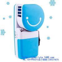 爆款掌上迷你空调USB充电笑脸风扇 无叶风扇 夏天促销礼品风扇