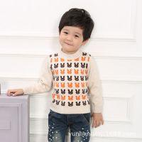 厂家直销 韩版童装 纯棉卡通兔男童针织衫 中小童打底衫A9479