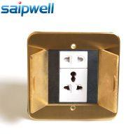供应隐藏式铜合金地面插座,10A五孔多功能地面插座 家用插座