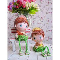 树脂娃娃/生日礼品/儿童节礼物/绿叶吊脚(6083)SW641A,B