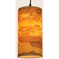 供应中式古典羊皮吊灯 现代简约中国风餐厅灯 简约现代过道走廊灯具灯饰