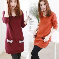2014厂家直销韩版长袖T恤打底衫上衣 修身中长款女式小衫