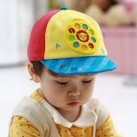 FUNNIMALS 韩国新款卡通儿童帽子 萌版宝宝帽拨号图案帽 多色
