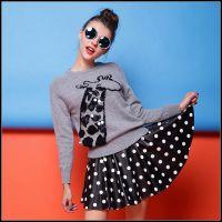 毛衣女2014秋冬装新韩版短款套头宽松加厚小长颈鹿打底衫针织衫