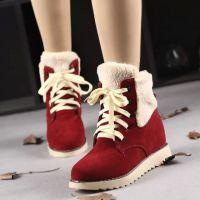 2014冬季新款高帮女鞋韩版加绒雪地棉保暖休闲中筒靴棉靴棉鞋