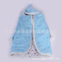 新款披风婴儿抱被儿童睡袋柔软舒适秋冬加厚款婴幼儿抱毯一件代发