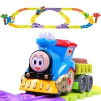 电动儿童玩具火车 男孩玩具汽车 托马斯小火车套装 轨道车赛车