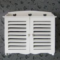 厂家直销田园 木制电表箱遮挡箱 百叶窗电表箱盒子