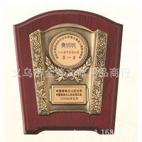 颁奖奖牌高仿红木奖牌金铜色奖牌金属多边形奖牌款式新颖造型独特