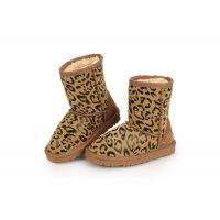 冬季新款儿童韩版男童豹纹雪地靴女童低筒靴保暖棉 厂家批发