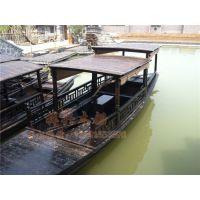 公园景区摇橹船 湿地公园游玩摇橹船