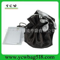 深圳龙岗手袋厂  供应 新款钱包  可爱拉绳袋  黑色色丁 束口袋