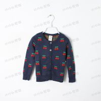 秋款 樱桃 女童开衫毛衣 儿童针织外套 外贸童装批发 2色