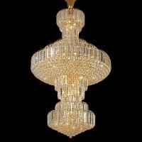 中式现代别墅大型水晶吊灯 休闲娱乐场所大厅水晶灯具厂家