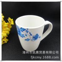 厂家直销密胺杯仿瓷塑料杯日式餐具餐饮杯随手杯茶杯单耳口杯批发