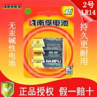 南孚电池 2号LR14 高性能碱性电池 聚能环2号干电池 二号 2节装