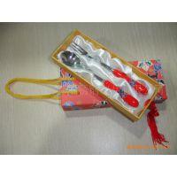 红瓷餐具|刀叉勺套装|礼品餐具