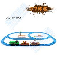 熊出没轨道玩具 托马斯轨道火车套装儿童电动小火车 头光头强系列