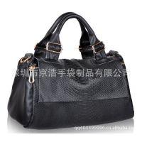 复古韩版手提包  PU皮女包  手提斜跨两用包  两用包包