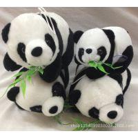 特价批发熊猫公仔 抱抱熊 毛绒玩具 吃竹子熊猫 仿真动物子母熊猫