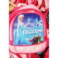 12寸外贸迪士尼卡通冰雪奇缘书包双肩包小学生背包