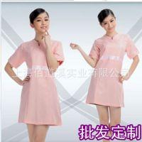 上海厂家专业生产订做美容院夏季工作服美容师连衣裙前台美容制服