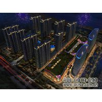 漯河昌建东外滩楼体亮化工程|五色领先国际照明