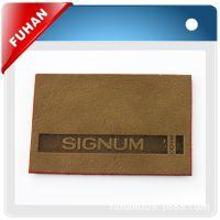 杭州厂家供应leather label,压花标牌,需手缝不可烫  欢迎咨询