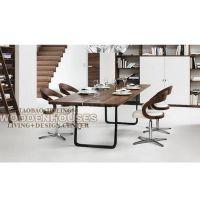 美式家具 餐厅长方形做旧木色餐桌 办公室工作座 欢迎定做