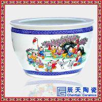 优质泡澡落地陶瓷大缸 养身瓷缸 景德镇商务礼品陶瓷大缸 定做厂家