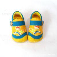 特价批发新款流行男童皮鞋单鞋拼接彩色韩版鞋卡通光头强单鞋童鞋
