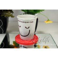 银行活动宣传礼品硅胶杯垫 创意杯垫批发定做 中秋节礼品方案