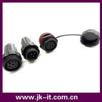 深圳品牌M22防水连接器 3+5芯面板式 圆形 防水接头 IP68 大电流