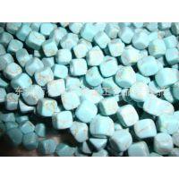 7*7人造绿松石正方体串珠 004# 串珠材料 緑松石DIY饰品配件