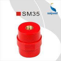 自产自销低压绝缘子 SM35红色绝缘子 黄铜铁质绝缘子