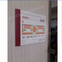 商场、工厂平面指示图/消防疏散图广告牌/线路铝型材标牌