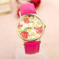 淘宝新款手表玫瑰花朵学生手表 多色花草系列女士手表 现货批发