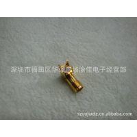 高品质 镀金SMA母头弯脚 PCB板式SMA插头 高频天线接头