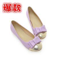 2014新款女单鞋供应 星星的你同款低跟蝴蝶结乖乖款女鞋 时尚单鞋