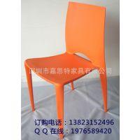 现代风格的PP塑料椅 一体塑胶椅 会客椅 餐厅椅子