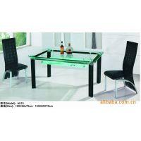 出厂价销售黑色铝合金4热弯白色玻璃餐厅桌子//餐台/餐桌/