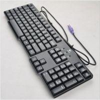 供应罗技经典键盘K100 黑色防水键盘ps/2接口 超薄设计 游戏键盘